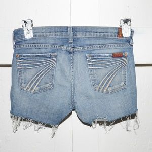 7 for all mankind womens cut off shorts size 26